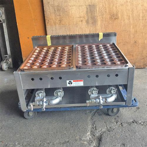 【中古】たこ焼き器 幅585×奥行620×高さ230 都市ガス 【送料無料】【業務用】