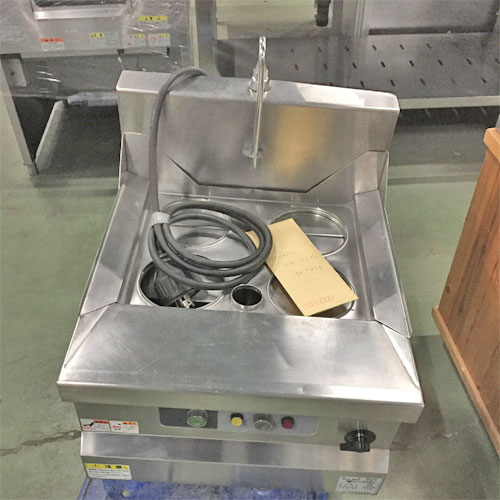 【中古】電気卓上ゆで麺機 マルゼン MREK-045T 幅450×奥行530×高さ300 三相200V 【送料別途見積】【業務用】