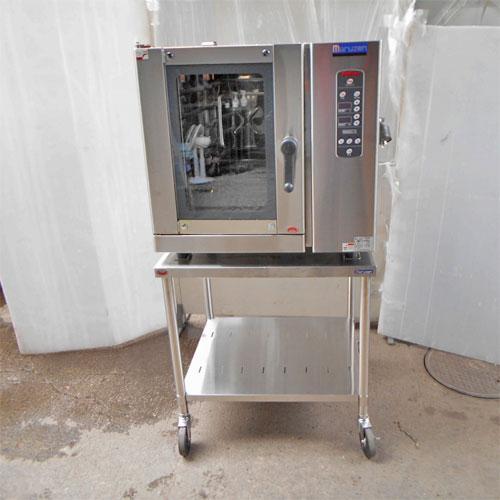 【中古】コンベクションオーブン 架台付き マルゼン MCOE-087B 幅780×奥行700×高さ770 三相200V 【送料別途見積】【業務用】