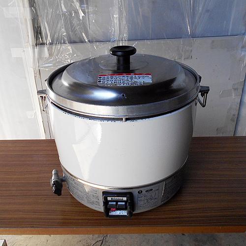 【中古】ガス炊飯器 リンナイ RR-30S1 幅470×奥行410×高さ450 都市ガス 【送料別途見積】【業務用】