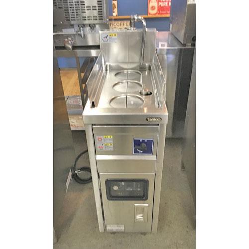 【中古】電気ゆで麺機 タニコー TEU-28 幅280×奥行600×高さ800 三相200V 【送料無料】【業務用】