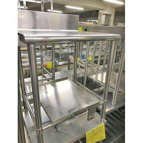 【中古】炊飯台車付き作業台 幅650×奥行600×高さ780 【送料無料】【業務用】