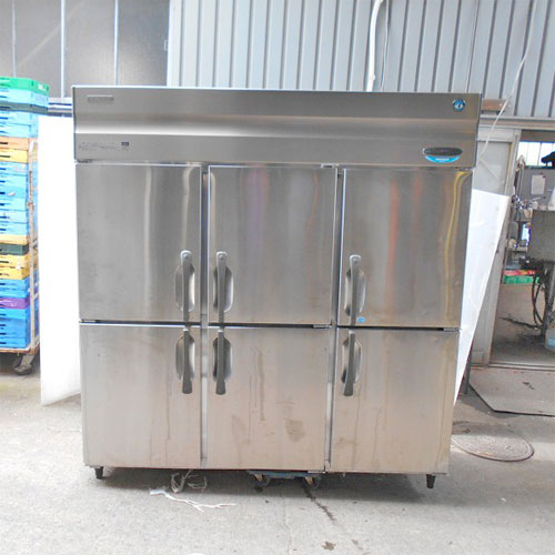 【中古】縦型冷凍冷蔵庫 ホシザキ HRF-180XT3 幅1800×奥行650×高さ1890 三相200V 【送料別途見積】【業務用】