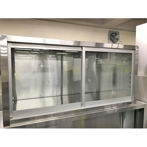 【中古】吊戸棚(ガラス戸) マルゼン 幅1200×奥行350×高さ600 【送料無料】【業務用】