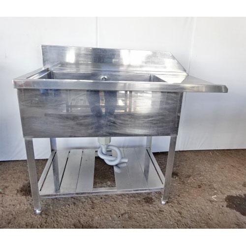 【中古】ソイルドテーブル 幅1100×奥行620×高さ850 【送料別途見積】【業務用】