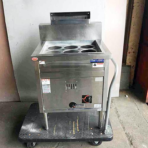【中古】ゆで麺機 マルゼン MRK-066B 幅600×奥行600×高さ780 LPG(プロパンガス) 【送料別途見積】【業務用】