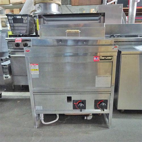 【中古】ゆで麺機 うどん角槽 マルゼン MGU-076G 幅750×奥行600×高さ800 都市ガス 【送料別途見積】【業務用】