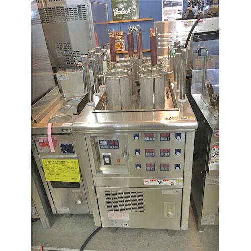 【中古】電気自動ゆで麺機 ニチワ電機 ENBA-6M2SP 幅550×奥行750×高さ800 三相200V 60Hz専用 【送料無料】【業務用】