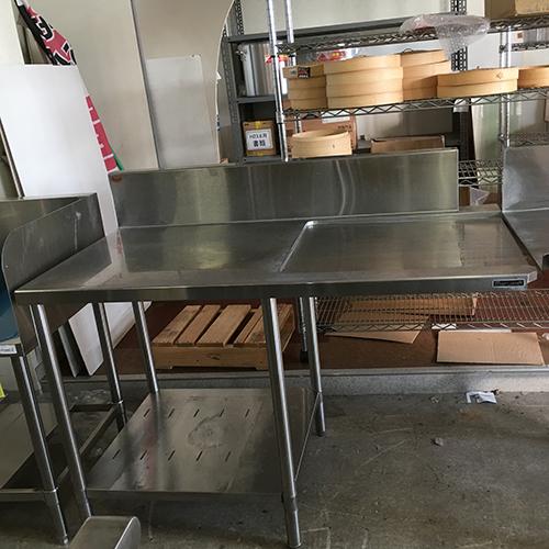 【中古】クリーンテーブル マルゼン 幅1290×奥行670×高さ810 【送料無料】【業務用】