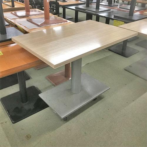 【中古】4人用テーブル シルバー角ベース 幅1100×奥行700×高さ730 【送料別途見積】【業務用】