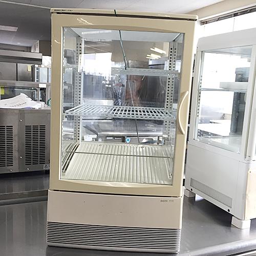 【中古】4面ガラス冷蔵ショーケース サンヨー SMR-C65F 幅455×奥行445×高さ795 【送料別途見積】【業務用】