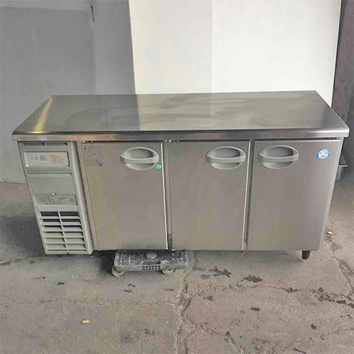 【中古】冷凍冷蔵コールドテーブル 福島工業(フクシマ) YRC-151PE2-E 幅1500×奥行600×高さ800 【送料別途見積】【業務用】