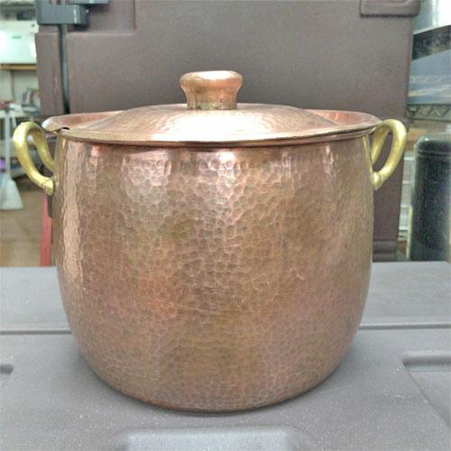 【中古】銅丸チューフィングディッシュ 幅直径212×高さ165 【送料無料】【業務用】