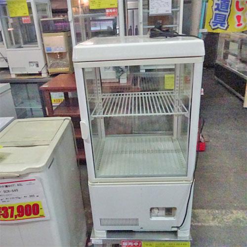 【中古】卓上4面ガラス冷蔵ショーケース サンデン AG-54X 幅429×奥行445×高さ822 【送料別途見積】【業務用】