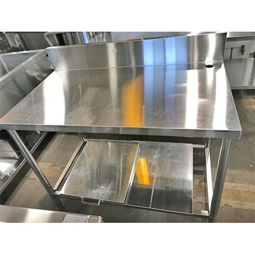【中古】作業台 炊飯カート付き 幅1050×奥行600×高さ800 【送料無料】【業務用】