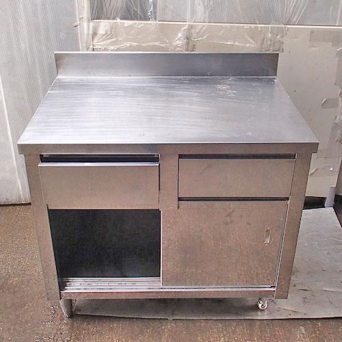【中古】調理台 引出し付き 幅900×奥行600×高さ800 【送料別途見積】【業務用】