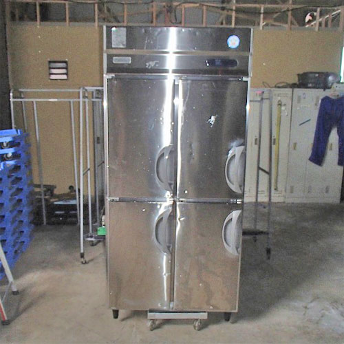 【中古】縦型冷蔵庫 福島工業(フクシマ) URN-090RM6 幅900×奥行650×高さ1950 【送料別途見積】【業務用】