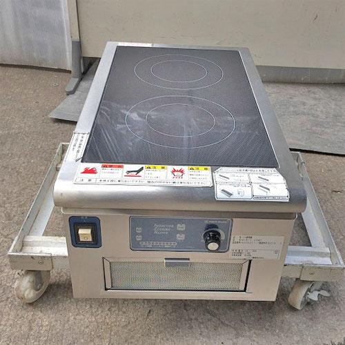 【中古】IH調理器 ニチワ電機 MIR-1.25WT 幅350×奥行600×高さ275 【送料無料】【業務用】