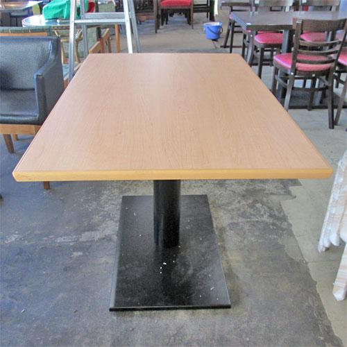 【中古】洋風テーブル 白木 幅1200×奥行750×高さ720 【送料無料】【業務用】