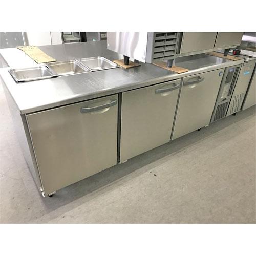 【中古】冷蔵コールドテーブル ホシザキ RT-210SDF-E-HRML 幅2100×奥行750×高さ800 【送料無料】【業務用】