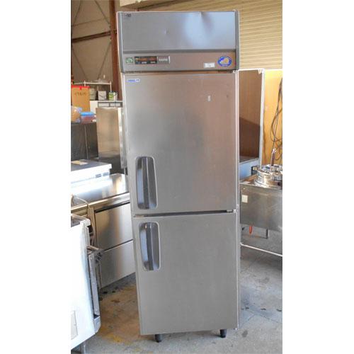 【中古】2ドア縦型冷凍庫 サンヨー SRR-J661CV 幅620×奥行650×高さ1930 【送料別途見積】【業務用】