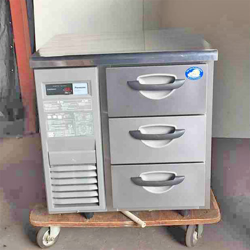 【中古】冷凍ドロワーコールドテーブル パナソニック(Panasonic) SUF-DK771-3 幅735×奥行750×高さ800 【送料無料】【業務用】