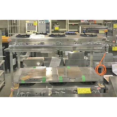 【中古】ガステーブル マルゼン NGT-156CS 幅1500×奥行600×高さ800 LPG(プロパンガス) 【送料別途見積】【業務用】
