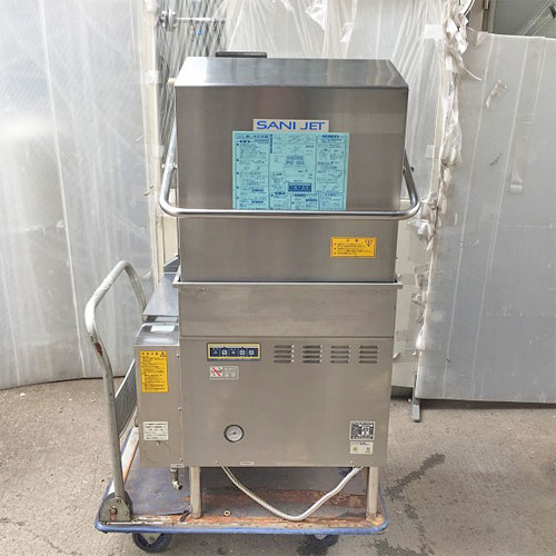 【中古】食器洗浄機 日本洗浄機 SD-82GA-LB 幅740×奥行740×高さ1370 50Hz専用 都市ガス 【送料別途見積】【業務用】