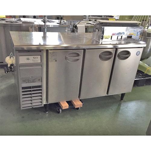 【中古】冷蔵コールドテーブル 福島工業(フクシマ) AYC-150RM-E(改) 幅1500×奥行600×高さ800 【送料別途見積】【業務用】
