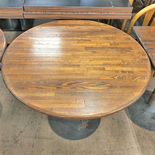 【中古】丸テーブル 幅850×奥行850×高さ670 【送料無料】【業務用】