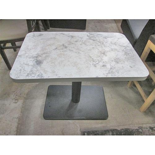 【中古】ローテーブル 黒マーブル天板 テンポス 幅750×奥行500×高さ600 【送料無料】【業務用】