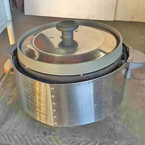 【中古】炊飯器 リンナイ RR-S15SF 幅480×奥行390×高さ340 都市ガス 【送料別途見積】【業務用】