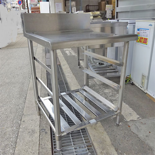 【中古】ソイルドテーブル 幅680×奥行700×高さ800 【送料別途見積】【業務用】