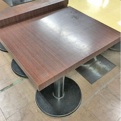 【中古】二人掛けテーブル 幅500×奥行600×高さ710 【送料無料】【業務用】