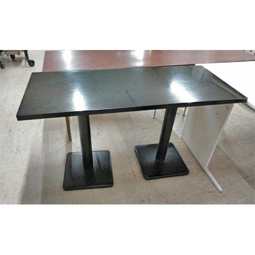 【中古】テーブル 黒 幅1200×奥行500×高さ720 【送料別途見積】【業務用】
