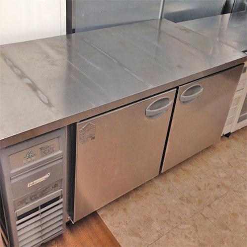 【中古】冷蔵コールドテーブル 福島工業(フクシマ) YRW-150RE2-F 幅1500×奥行750×高さ800 【送料別途見積】【業務用】
