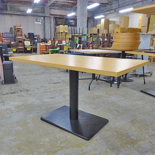 【中古】白木テーブル 幅1300×奥行750×高さ700 【送料別途見積】【業務用】