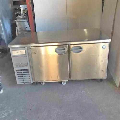【中古】冷蔵コールドテーブル フクシマガリレイ(福島工業) YRW-150RM2-F 幅1500×奥行750×高さ800 【送料別途見積】【業務用】
