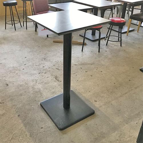 【中古】ハイテーブル 幅500×奥行500×高さ1000 【送料別途見積】【業務用】