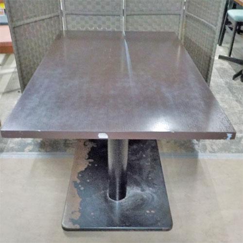 【中古】テーブル こげ茶 幅1200×奥行750×高さ720 【送料無料】【業務用】