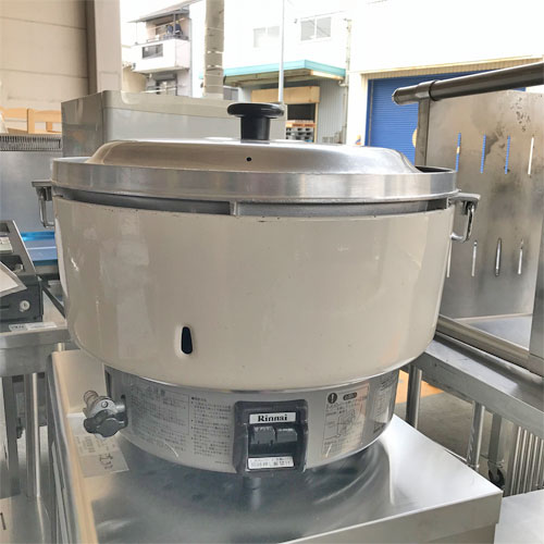 【中古】ガス炊飯器 4升 リンナイ RR-40S1 幅540×奥行480×高さ400 都市ガス 【送料別途見積】【業務用】