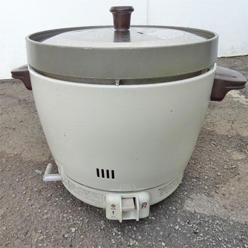 【中古】ガス炊飯器 リンナイ RR-20SF2 幅431×奥行335×高さ348 都市ガス 【送料別途見積】【業務用】
