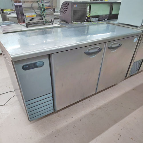 【中古】冷蔵コールドテーブル サンヨー SUR-G1561S 幅1500×奥行600×高さ800 【送料無料】【業務用】