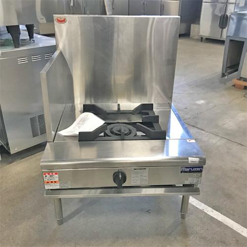 【中古】一口スープレンジ マルゼン RGS-077C 幅750×奥行750×高さ450 LPG(プロパンガス) 【送料別途見積】【業務用】