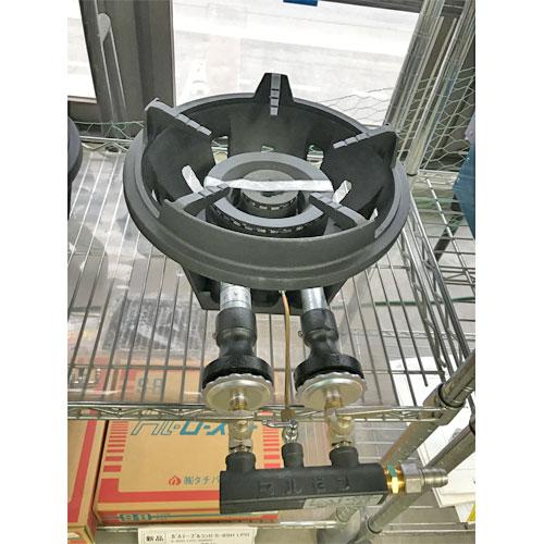 【中古】鋳物コンロ マルゼン MG-260B 幅357×奥行544×高さ160 都市ガス 【送料無料】【未使用品】【業務用】