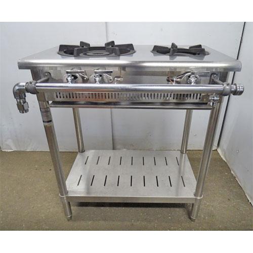 【中古】ガステーブル タニコー TTS-TGT-7545 幅750×奥行450×高さ800 都市ガス 【送料別途見積】【業務用】