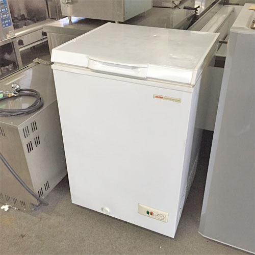 【中古】冷凍ストッカー サンヨー HF-10CP(W) 幅570×奥行570×高さ870 【送料別途見積】【業務用】