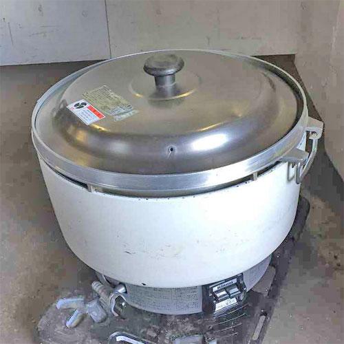 【中古】ガス炊飯器 リンナイ RR-501S1 幅560×奥行490×高さ370 都市ガス 【送料無料】【業務用】