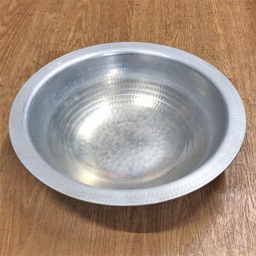 【中古】アルミ打出うどんすき鍋36cm(6枚セット) 幅外径365φ×高さ87 【送料無料】【業務用】