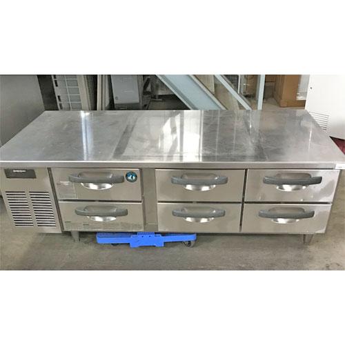【中古】冷蔵ドロワーコールドテーブル ホシザキ RTL-165DDC 幅1660×奥行850×高さ560 【送料別途見積】【業務用】